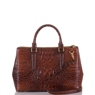 Small Lincoln Satchel Pecan Melbourne Back