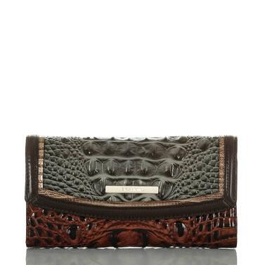 Modern Checkbook Wallet Serpentine Heartwood Front