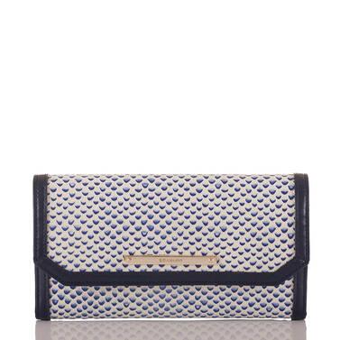 Soft Checkbook Wallet Blue Lorena Front