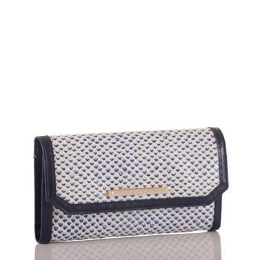 Soft Checkbook Wallet Blue Lorena Side