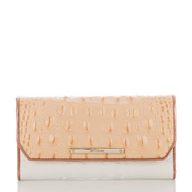 Soft Checkbook Wallet Apricot Crandon Front