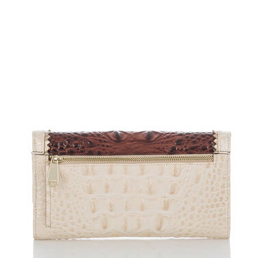 Soft Checkbook Wallet Pecan Soriano Back