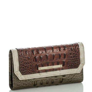 Soft Checkbook Wallet Pecan Azuma Side