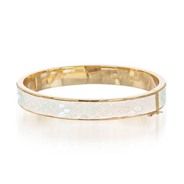 Heritage Leather Bangle Prism Fairhaven Front