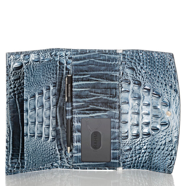 Modern Checkbook Wallet Aquarius Lattice