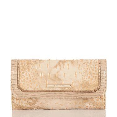 Soft Checkbook Wallet White Tortoise Coro Front