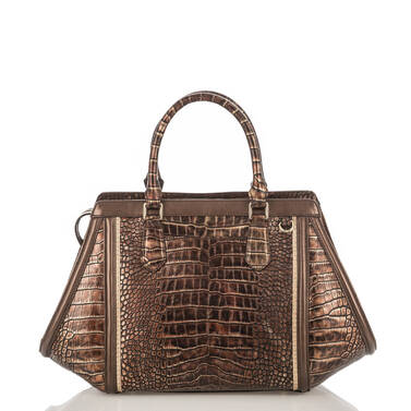 Arden Satchel Brown Milan Back