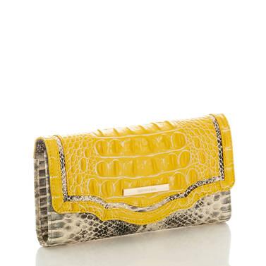 Soft Checkbook Wallet Sunflower Astaire Side