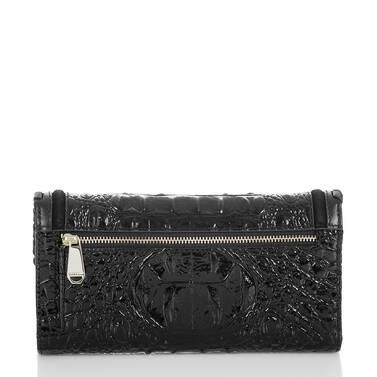 Soft Checkbook Wallet Black Wilde Back
