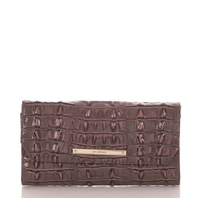 Soft Checkbook Wallet Aubergine La Scala, Aubergine, hi-res