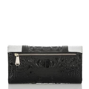 Soft Checkbook Wallet Black Crane Back
