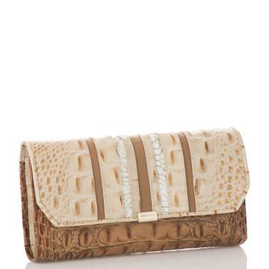Soft Checkbook Wallet Champagne Koubba Side