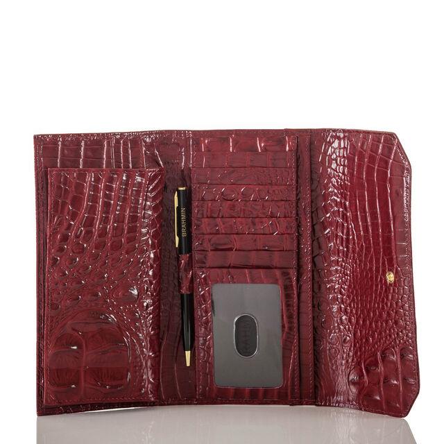 Soft Checkbook Wallet Chianti Melbourne, Chianti, hi-res