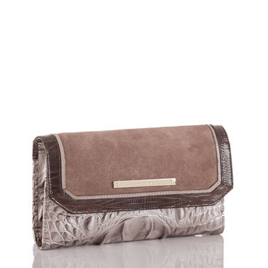 Soft Checkbook Wallet Chardonnay Clermont Side