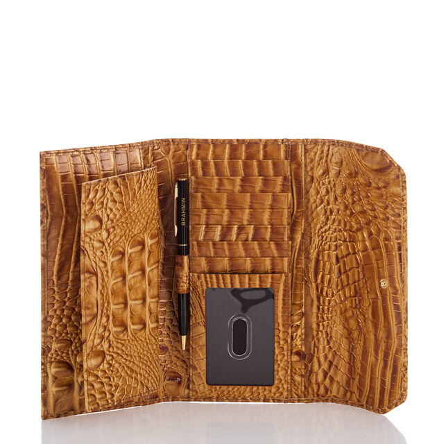 Soft Checkbook Wallet Amber Melbourne, Amber, hi-res