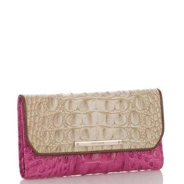 Soft Checkbook Wallet Raspberry Biscayne Side