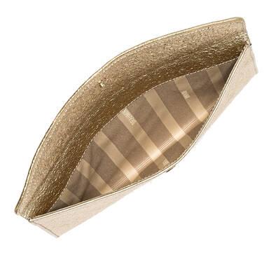 Envelope Clutch Gold Grady Interior