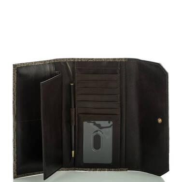 Soft Checkbook Wallet Pecan Azuma Interior
