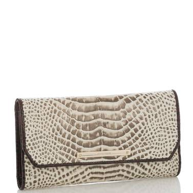 Soft Checkbook Wallet Creme Rhodes Side