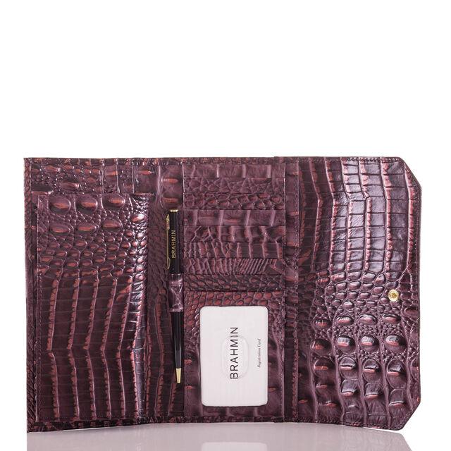 Soft Checkbook Wallet Fig Melbourne, Fig, hi-res