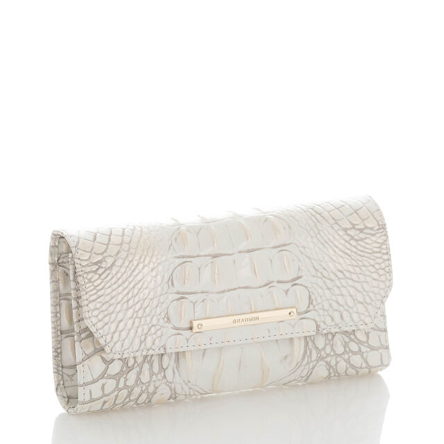 Soft Checkbook Wallet Pearl Melbourne, Pearl, hi-res