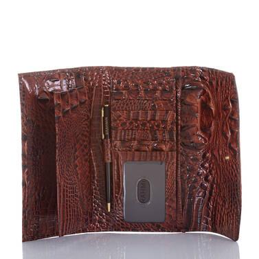 Modern Checkbook Wallet Pecan Melbourne Interior