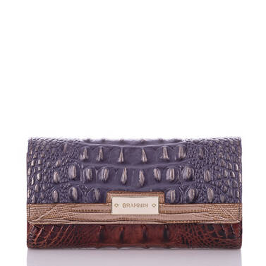 Soft Checkbook Wallet Andesite Lucino Front