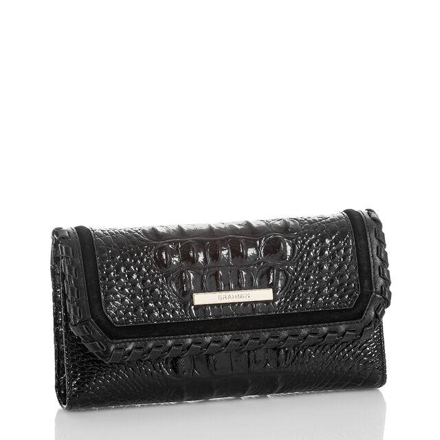 Soft Checkbook Wallet Black Wilde, Black, hi-res