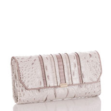 Soft Checkbook Wallet Toasted Macaroon Orleans Front