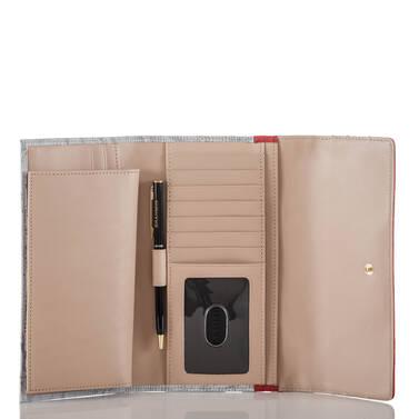 Soft Checkbook Wallet Bluestone Habanera Interior