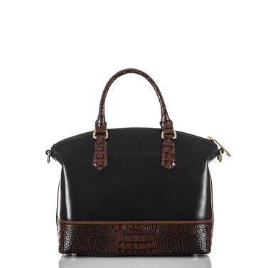 Duxbury Satchel Black Tuscan Tri-Texture Front