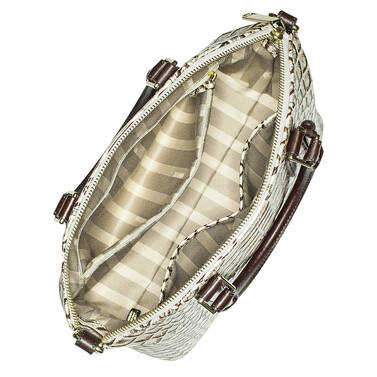 Duxbury Satchel Pearl Dogwood Interior