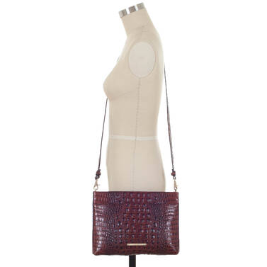 Remy Crossbody Pecan Melbourne on figure for scale