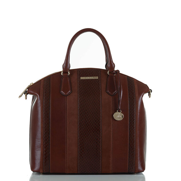 Large Duxbury Satchel Pecan Windsor, Pecan, hi-res