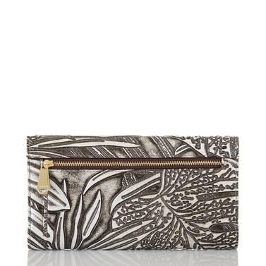 Soft Checkbook Wallet Silver Loreto Back