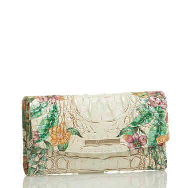 Modern Checkbook Wallet Ivory Tahiti Side