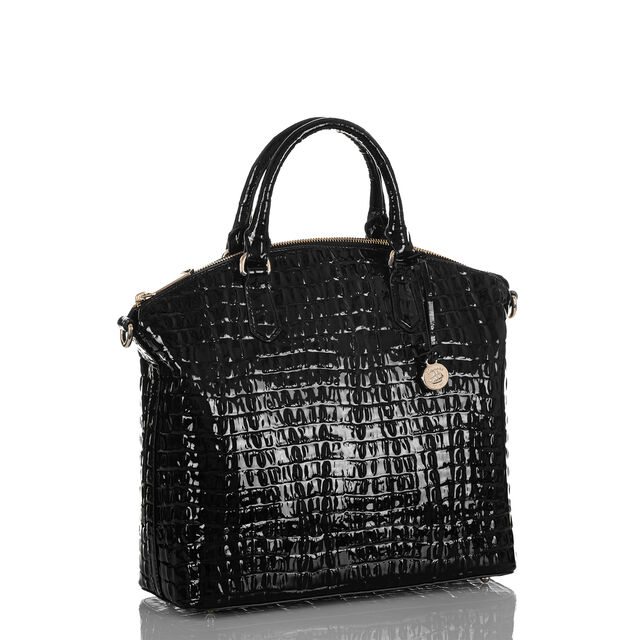 Large Duxbury Satchel Black La Scala, Black, hi-res