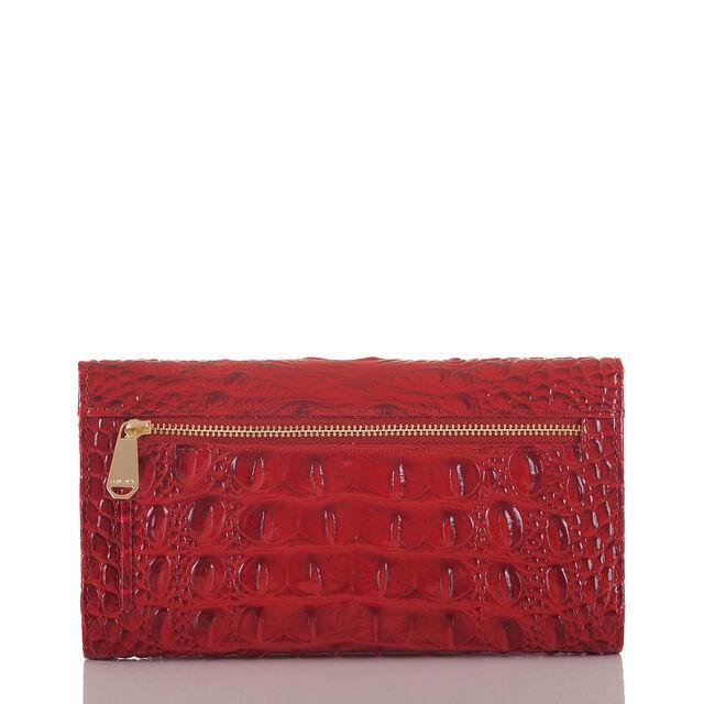 Soft Checkbook Wallet Scarlet Melbourne, Scarlet, hi-res