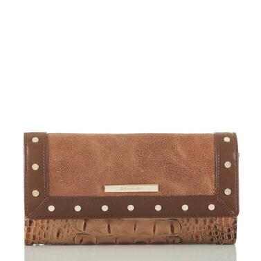 Soft Checkbook Wallet Brown Silva Front