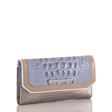 Soft Checkbook Wallet Periwinkle Fontainebleau Side
