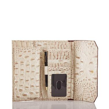Soft Checkbook Wallet Vanilla Macaw Interior