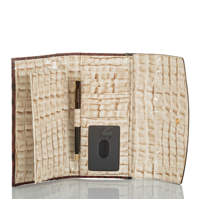 Modern Checkbook Wallet Latte Divino, Latte, hi-res