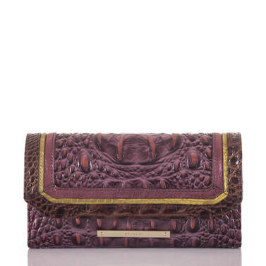 Soft Checkbook Wallet Fig Chapelle Front