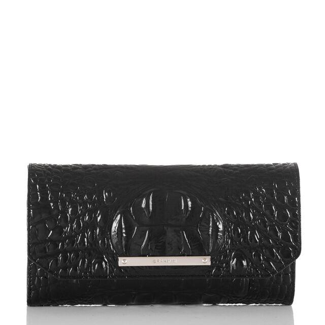 Soft Checkbook Wallet Black Melbourne, Black, hi-res
