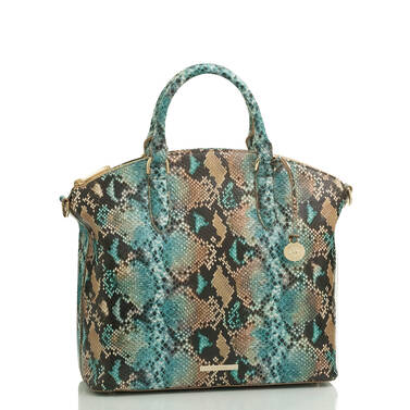 Large Duxbury Satchel Ocean Lilyana Side
