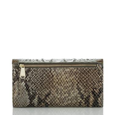 Soft Checkbook Wallet Silver Sage Kansai Back