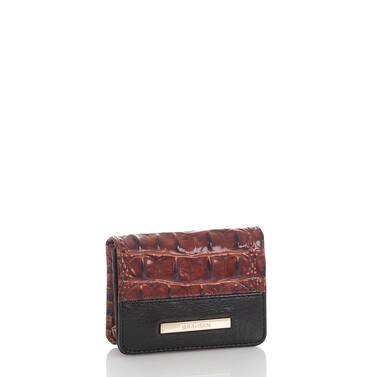 Mini Key Wallet Pecan Fitzgerald Side