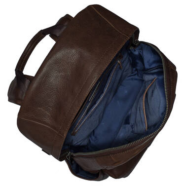 Marcus Backpack Cocoa Brown Manchester Interior