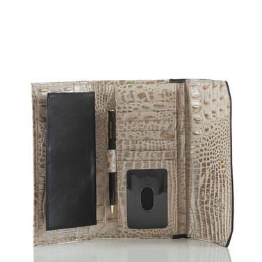 Soft Checkbook Wallet Graphite Crestview Interior
