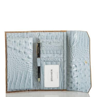 Soft Checkbook Wallet Sky Viognier Interior